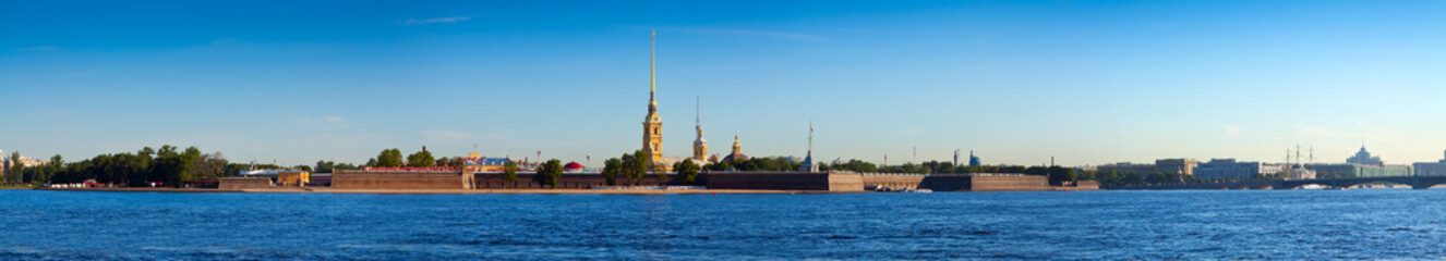 Panorama of St. Petersburg. Peter and Paul Fortress