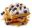 Leinwandbild Motiv Belgian waffles