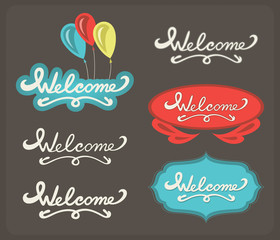 Welcome lettering set