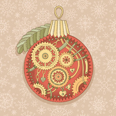 Steampunk christmas ball