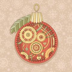 Steampunk christmas ball