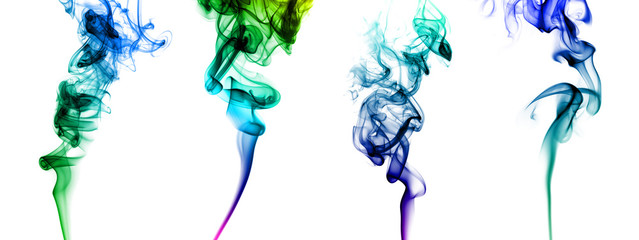 Set of colored smoke