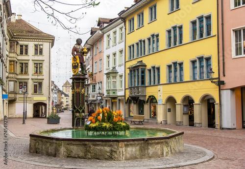 A fountain in Schaffhausen - Switzerland - 74549279