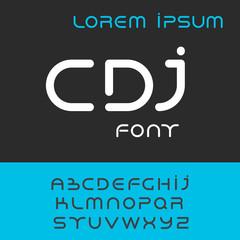 font alphabet set, rounded