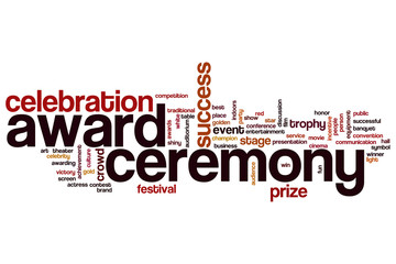 Award ceremony word cloud