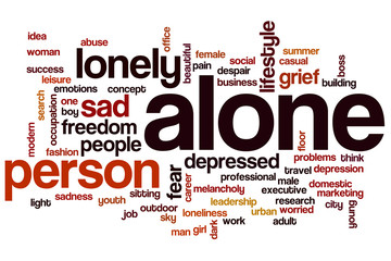 Alone word cloud