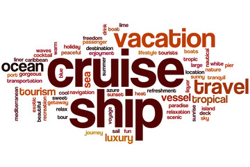 Cruise ship word cloud