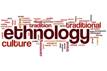 Ethnology word cloud