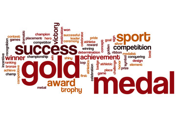 Gold medal word cloud