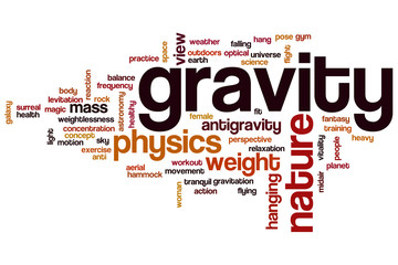 Gravity word cloud