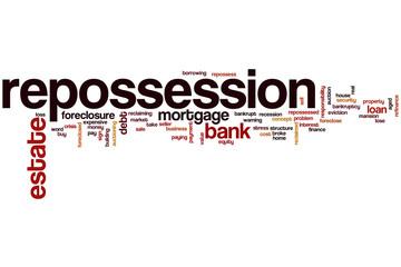 Repossession word cloud