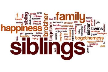 Siblings word cloud
