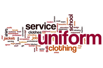 Uniform word cloud