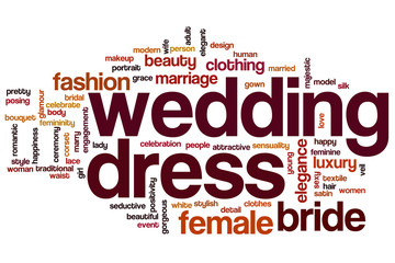 Wedding dress word cloud