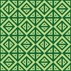 Geometric abstract green pattern vector seamless texture