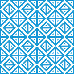 Geometric abstract blue and white pattern vector seamless textur