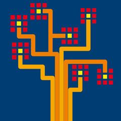 Vector optical transmission background, flat design