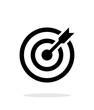 Successful shoot. Darts target aim icon on white background. - 74551022