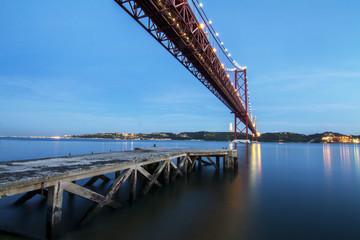 portuguese bridge over the tagus river