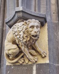 lion sculpture closeup, Munich, Bavaria Germany