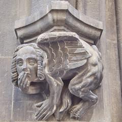 Sphinx sculpture closeup, Munich, Bavaria Germany