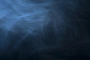 Blauer Rauch Nebel im Studio als Hintergund
