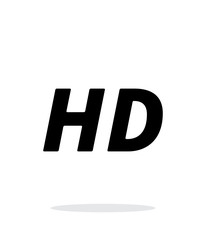 HD quality video icon on white background.