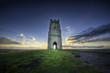 Leinwanddruck Bild - Glastonbury Tor