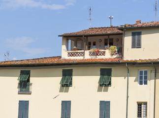 Ancient Lucca houses, Italy