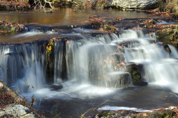 Waterfall in the Poconos in Autumn
