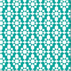 blue moroccan pattern