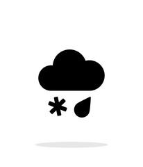 Sleet weather icon on white background.