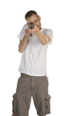 Holding Rifle