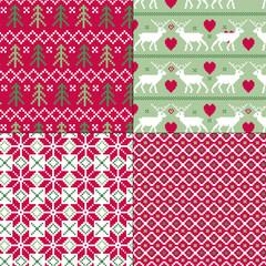 scandinavian christmas patterns