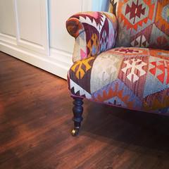 Armchair with ethnic design