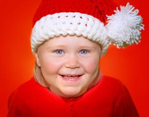 Cute little Santa girl