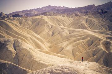 Solitary man at Zabriskie Point - Death Valley,California