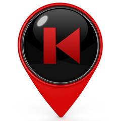 preview pointer icon on white background