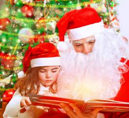 Reading fairytale with Santa Claus