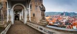 Cesky Krumlov Castle bridge panorama - 74556267