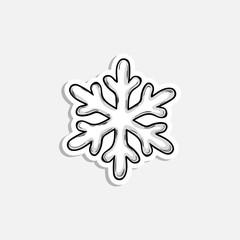 Christmas snowflake icon