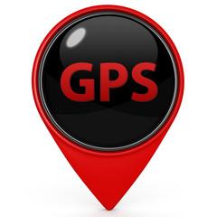 Gps pointer icon on white background
