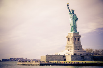 View of Statue of Liberty