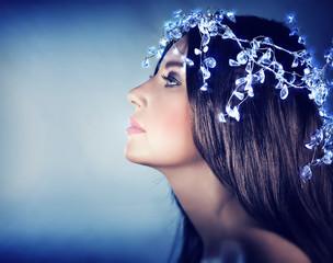 Beautiful snow queen portrait