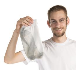 Holding Pair of Socks