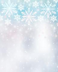 Beautiful snowflakes background