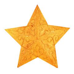Christmas golden star decoration