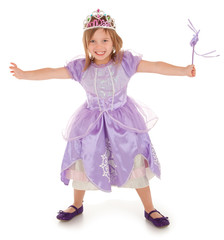 Little Fairy Princess Happily Granting a Wish to Someone