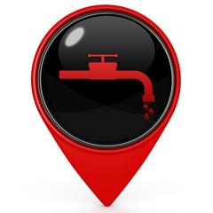 Water pointer icon on white background
