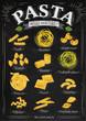 Poster pasta chalk - 74557825